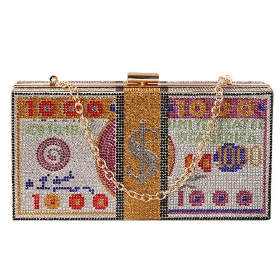 Messenger Bag&Crossbody Bag Lovely Euramerican Chain Strap Multicolor Crossbody Bag фото