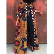 Lovely Bohemian Print Croci Long Coat