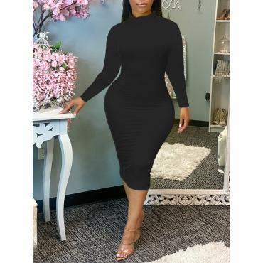 Lovely Casual Basic Skinny Black Knee Length Plus