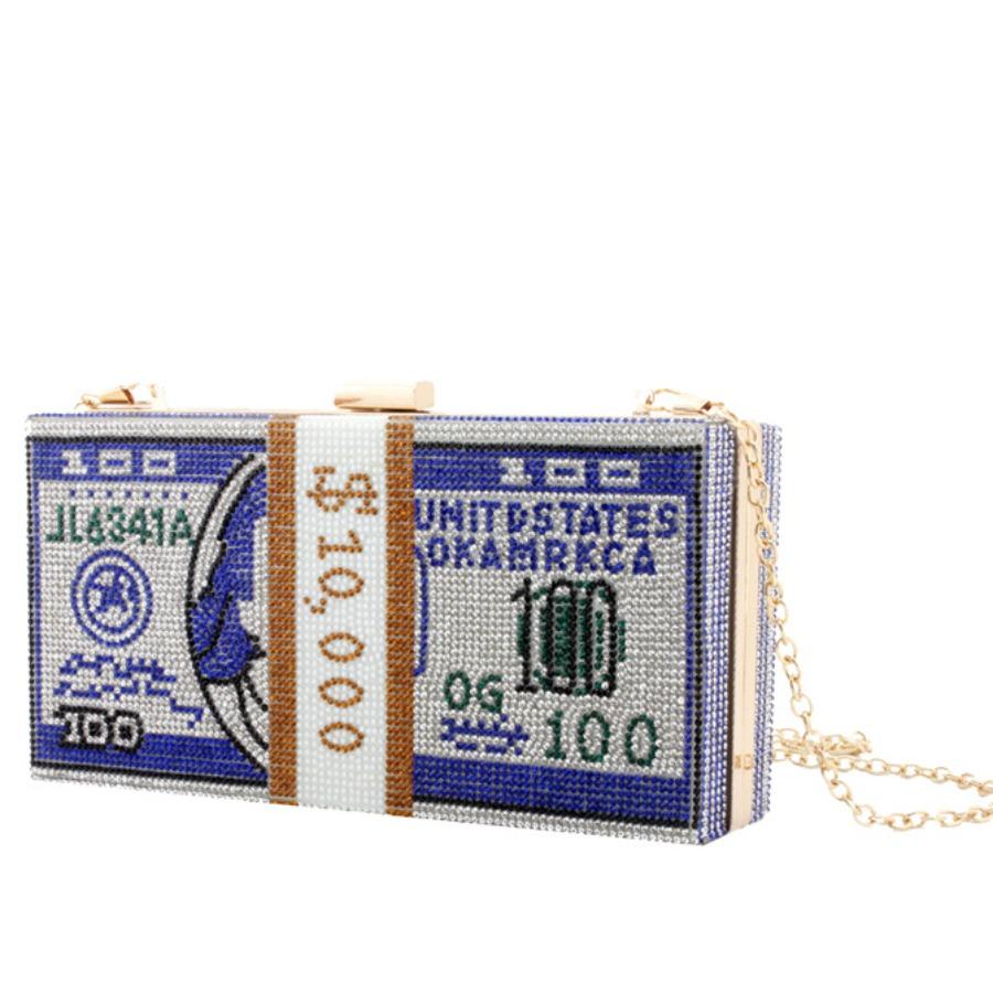 Messenger Bag&Crossbody Bag Lovely Stylish Chain Strap Blue Crossbody Bag фото
