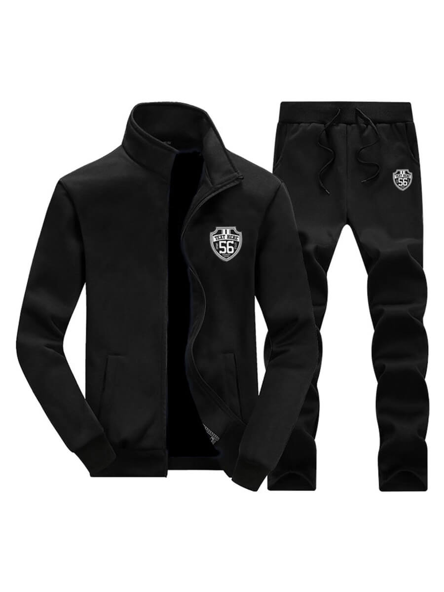 LW Men Zipper Design Oversized Pants Set