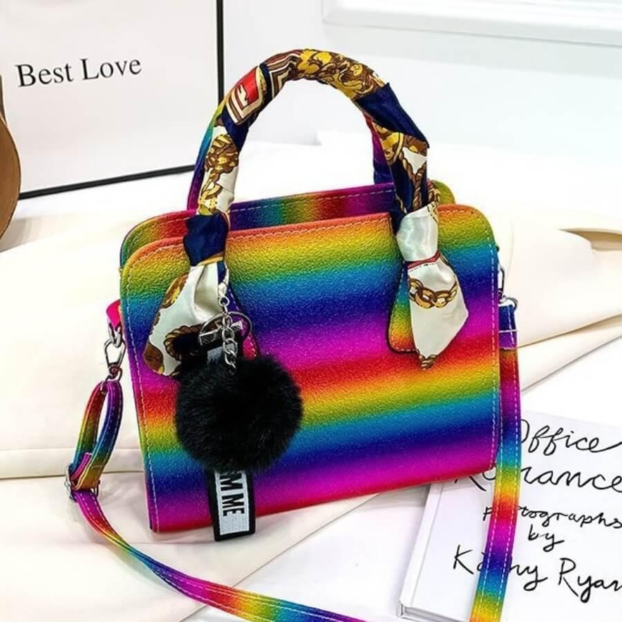 Lovely Trendy Rainbow Print Multicolor Crossbody B