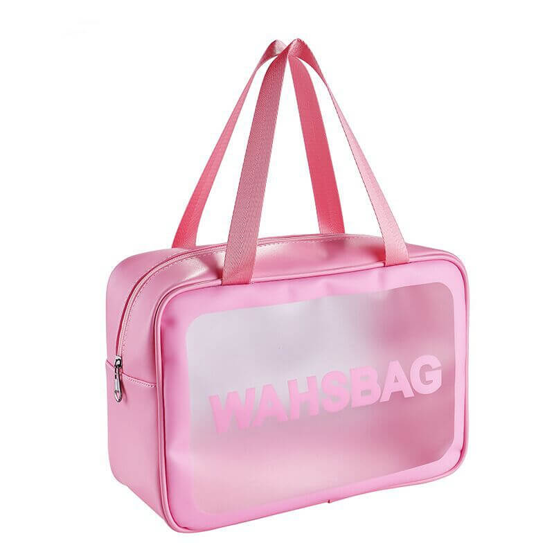 Lovely Stylish See-through Pink Makeup Bags