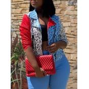 lovely Stylish Patchwork Leopard Print Jacket
