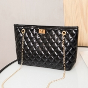 lovely Casual Chain Strap Black Crossbody Bag