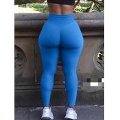 Lovely Sportswear Basic Skinny Blue Leggings