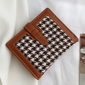 Lovely Casual Patchwork Brown Coin Purses