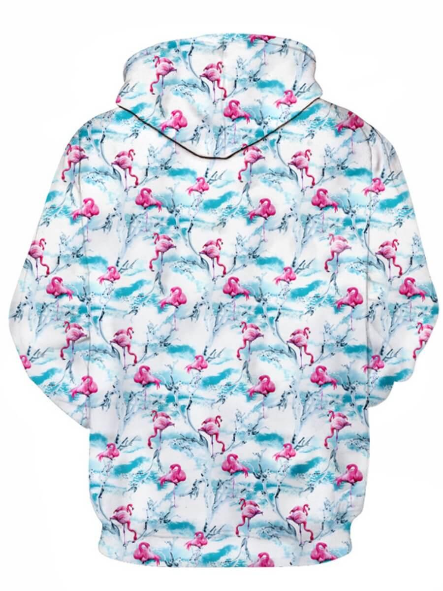 LW Men Hooded Collar Print Hoodie
