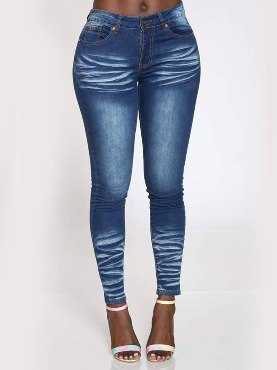 LW Lovely Stylish Basic Skinny Blue Jeans