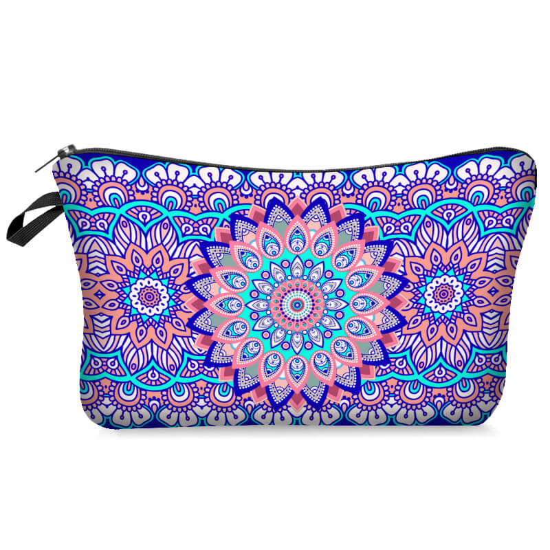 Lovely Ethnic Print Multicolor Makeup Bag
