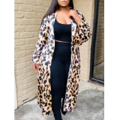 lovely Trendy Leopard Print Long Coat