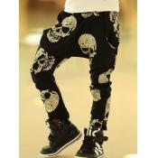 Lovely Street Skull Print Black Boy Pants