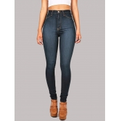 lovely Casual Basic Skinny Vivid Blue Jeans