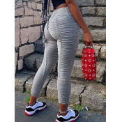 lovely Street Fold Design Grey Pants