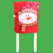 lovely Christmas Print White Chair Cover