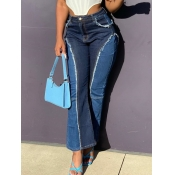 lovely Street Patchwork Blue Jeans