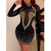 lovely Party Turtleneck Hot Drilling Decorative Pa