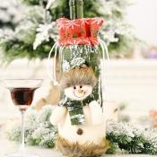 lovely Christmas Day Cartoon Green Wine Bag