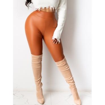 Lovely Stylish Basic Skinny Brown Pants