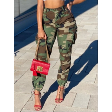 Lovely Street Camo Print Loose Jeans