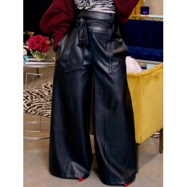 Lovely Stylish High-waisted Black Pants