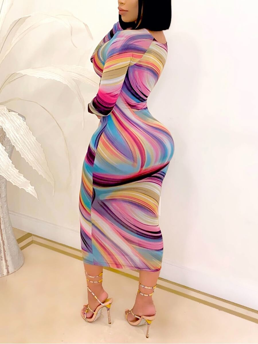 Lovely Sexy Print Hollow-out Multicolor Ankle Leng