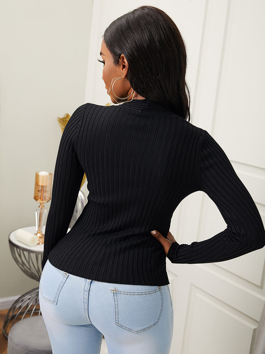 Lovely Trendy V Neck Cross-over Design Front Slit