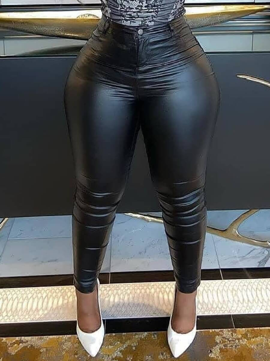Lovely Street Mid Waist Black Pants