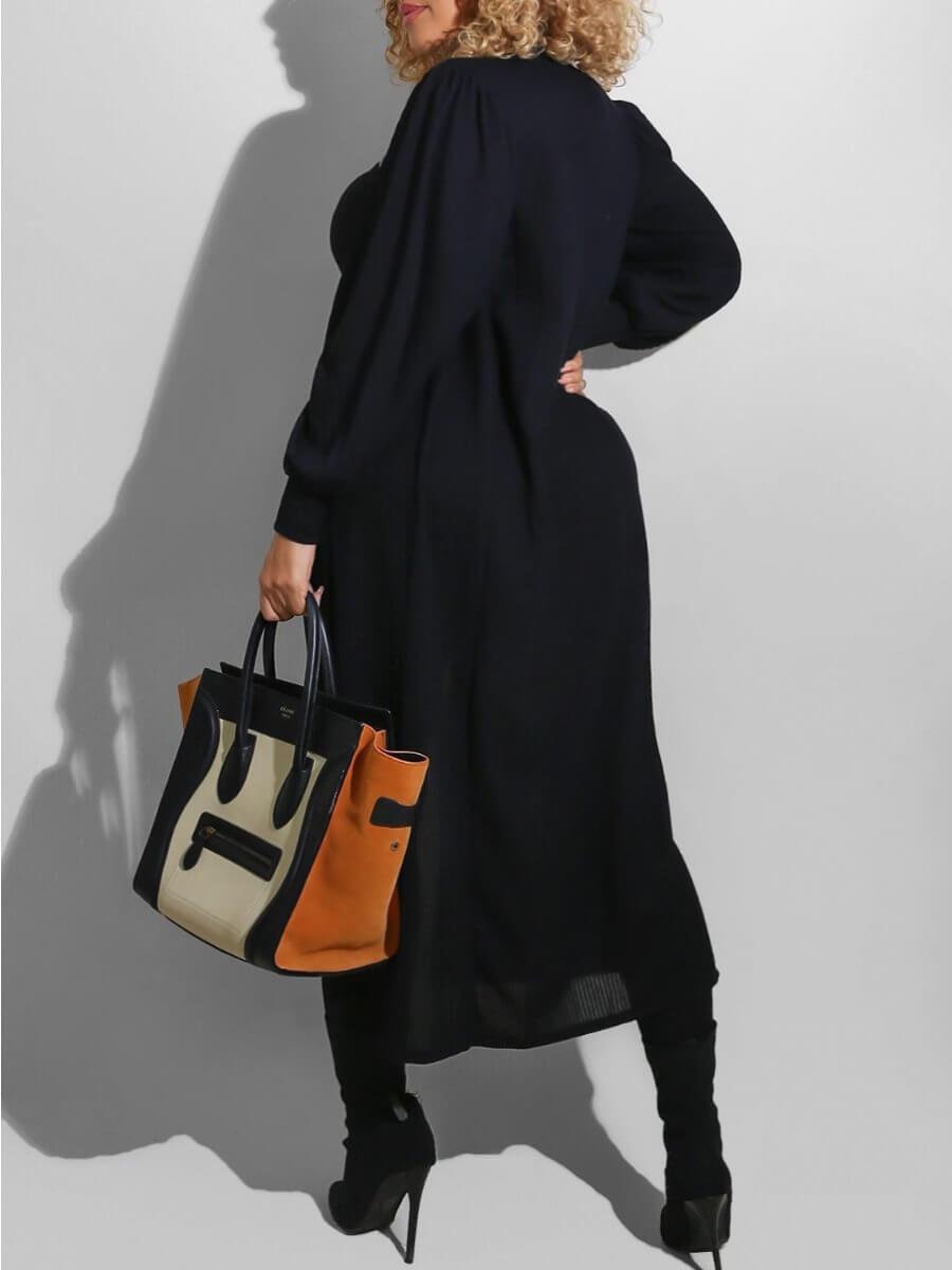Lovely Casual Bateau Neck Basic Skinny Black Plus