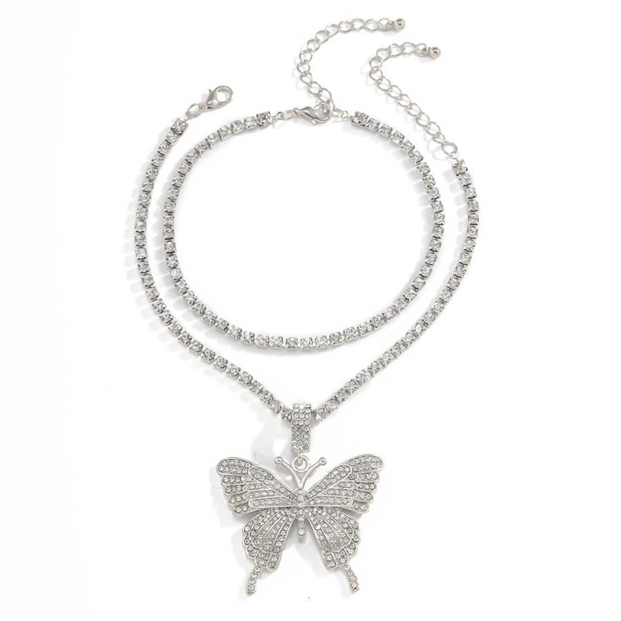 Lovely Stylish Butterfly Silver Bracelet