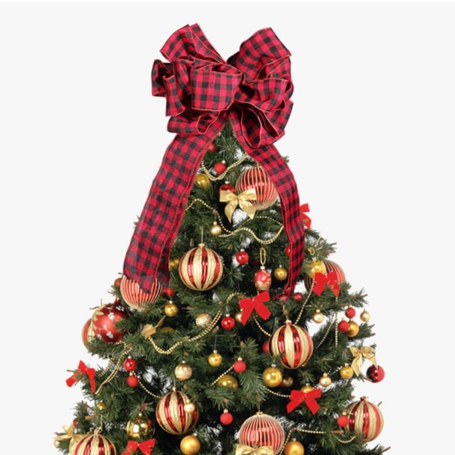 Lovely Plaid Christmas Day Red Ornament