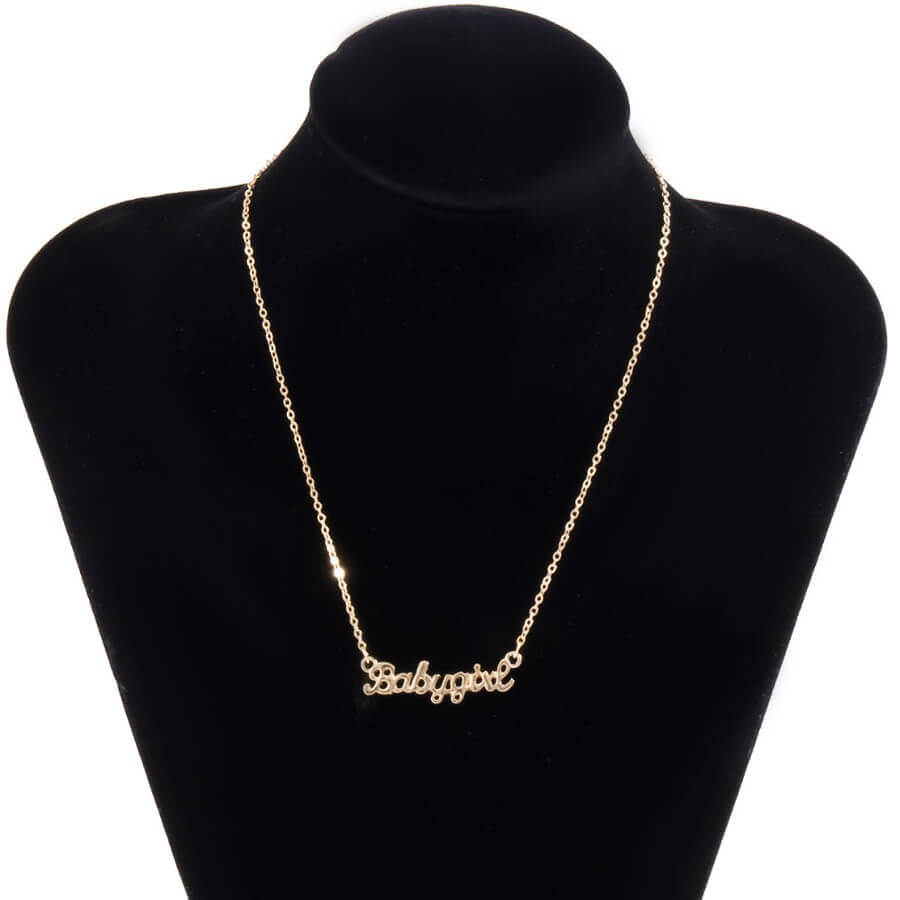 Lovely Casual Letter Gold Necklace