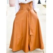 Lovely Formal Belt Design Loose Brown Floor Length