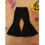 Lovely Stylish Flared Black Girl Jeans