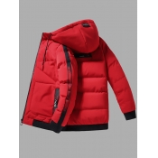 Lovely Casual Hooded Collar Letter Print Red Men C