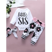 Lovely Casual Letter Print Patchwork White Girl Tw