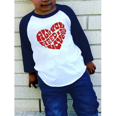 Lovely Casual Letter Print Patchwork Black Boy T-s