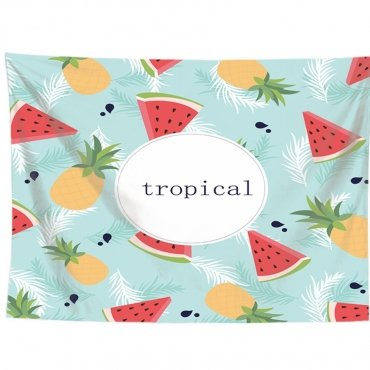 Lovely Fruit Print Patchwork Red Wall Cloth