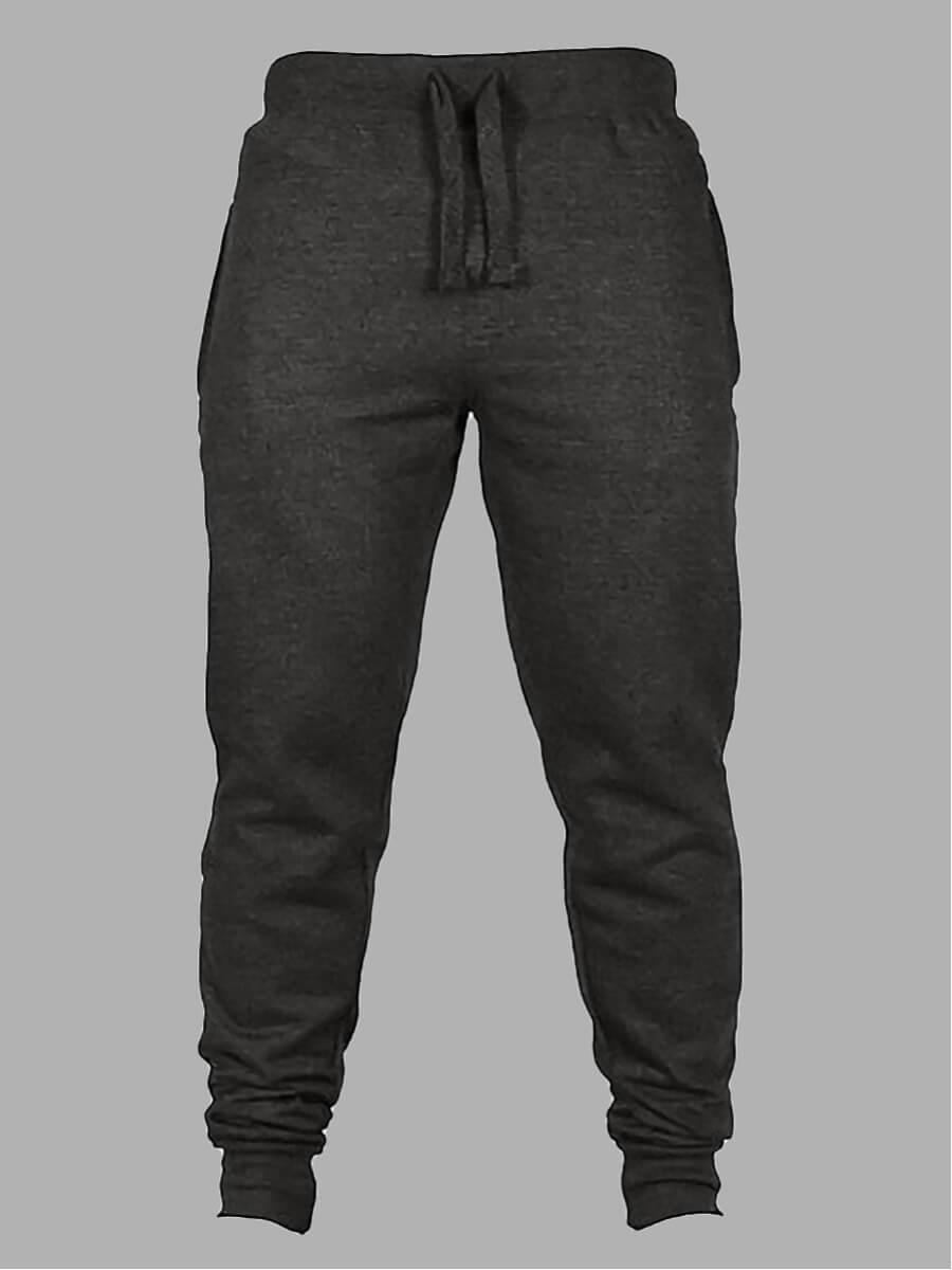 Lovely Men Casual Drawstring Elastic Dark Grey Pants