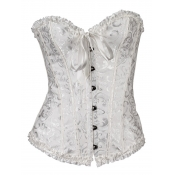 Lovely Sexy Off The Shoulder Bandage Design White Corset