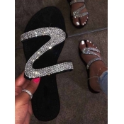 Lovely Sweet Sequined Silver Sandals