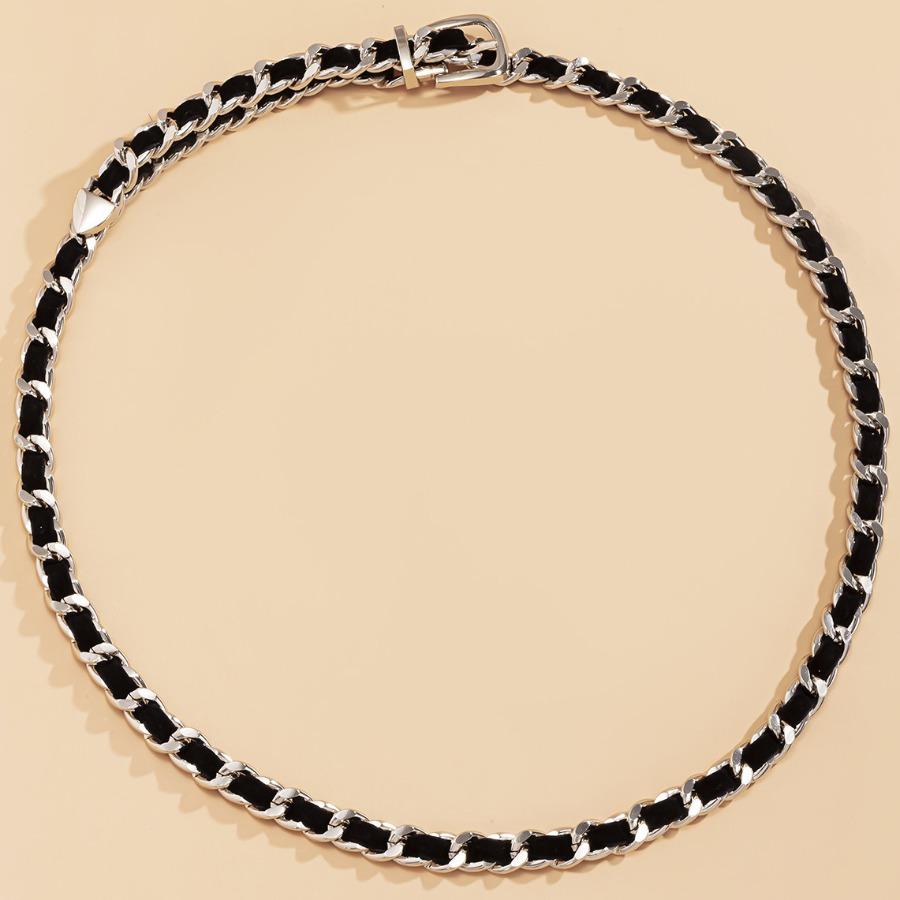 LW Street Chain Decoration Silver Belt