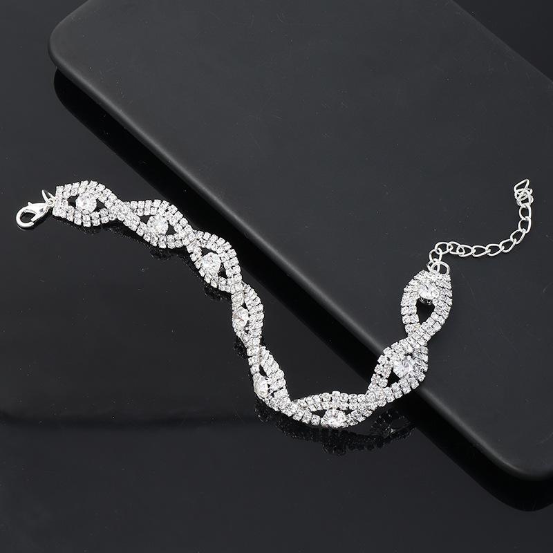 Lovely Street Sequined Silver Bracelet