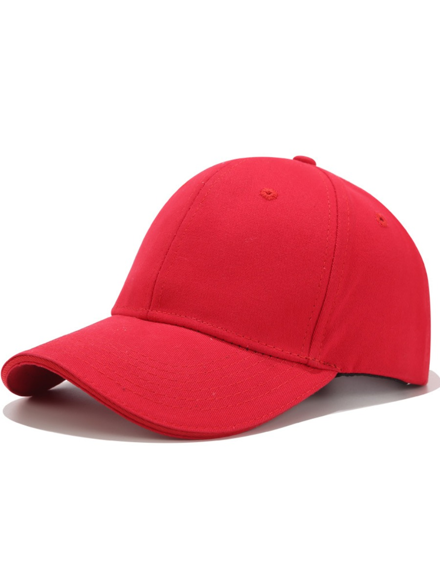 LW BASIC Casual Baseball Red Hat