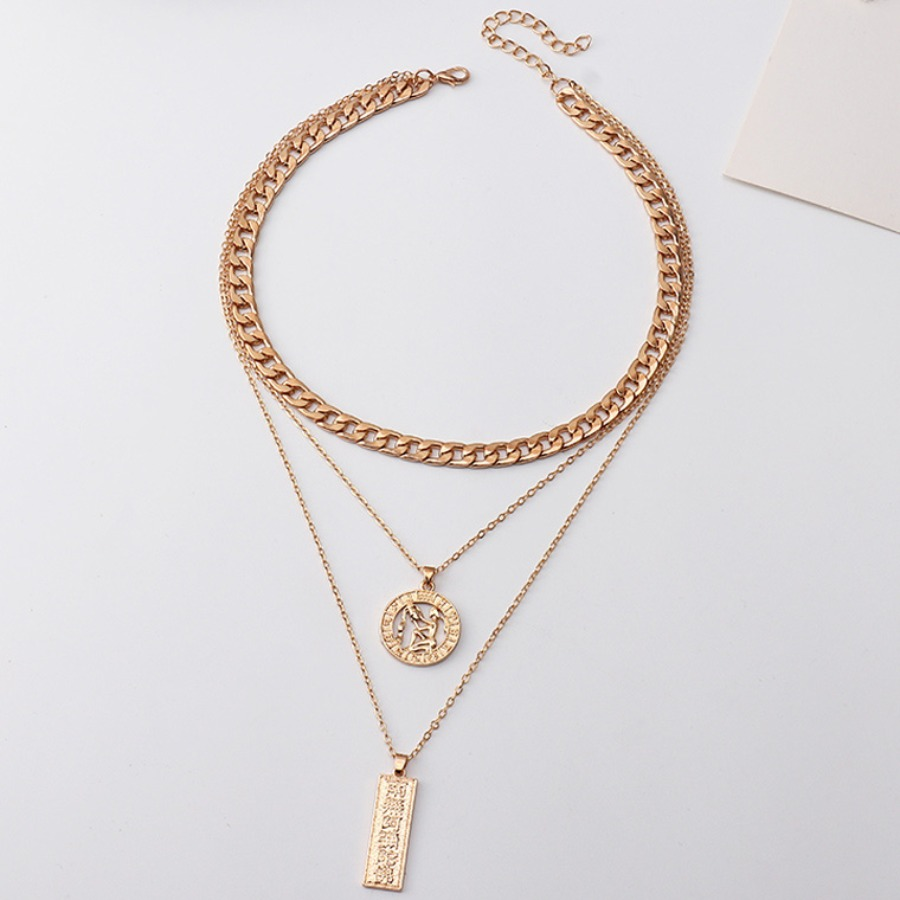Lovely Casual Coin Gold Multilayer Necklace
