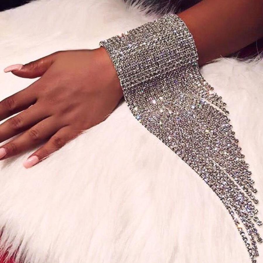 Lovely Sexy Tassel Design Silver Bracelet
