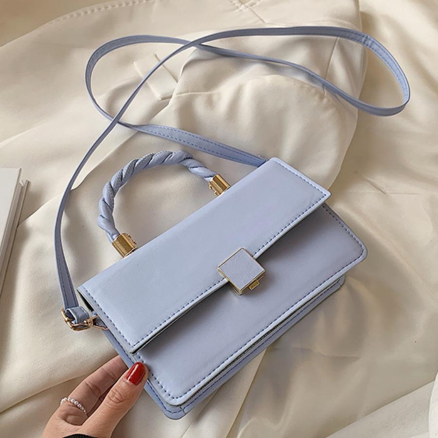 LW Casual Rectangular Blue Messenger Bag