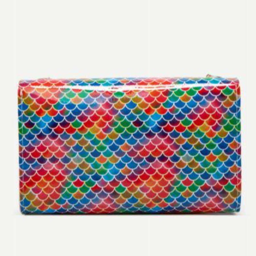 Lovely Fish Scale Print Chain Strap Crossbody Bag