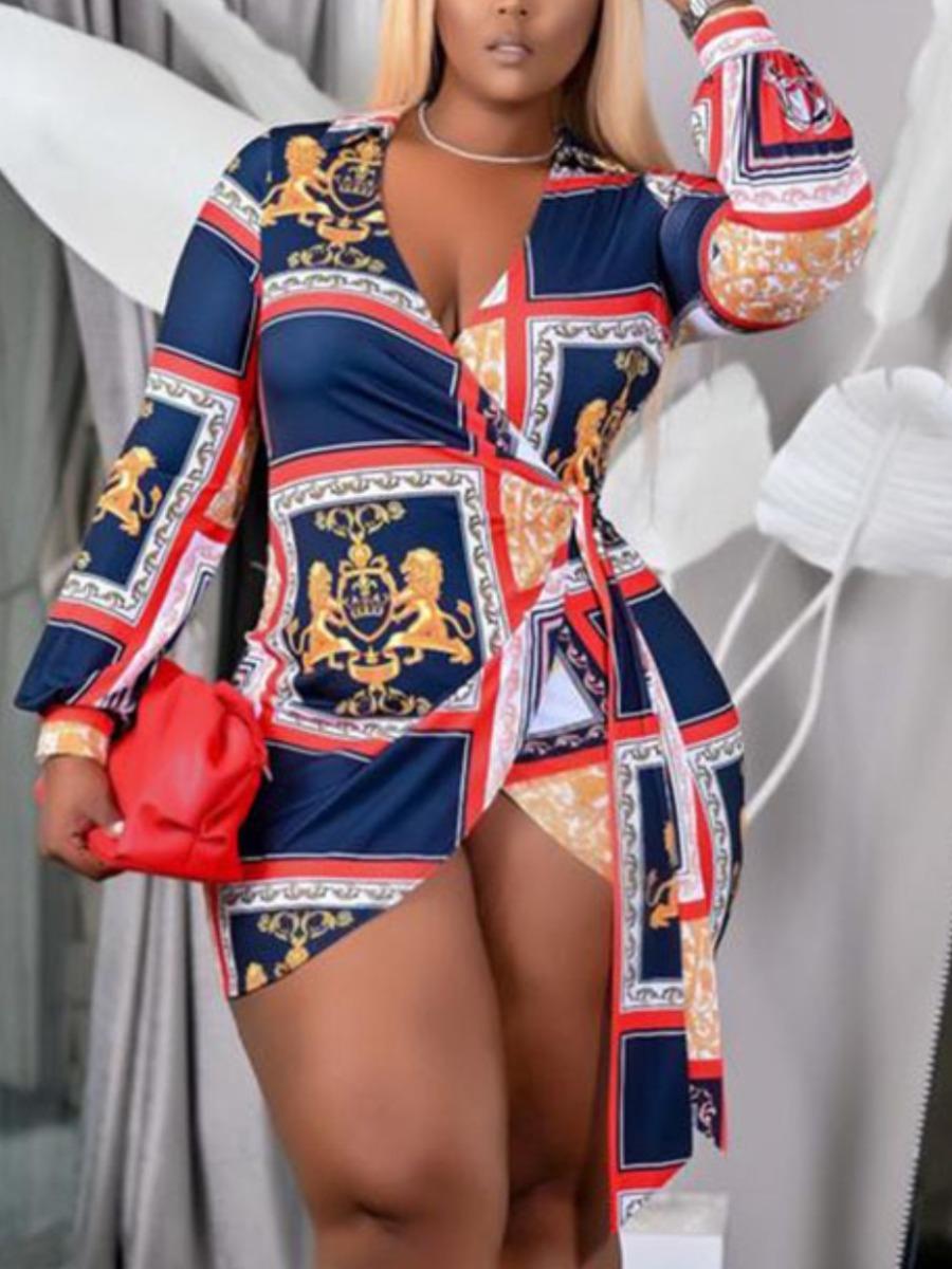 LW Geometric Print Bandage Design Dress