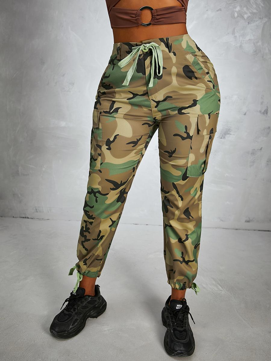 LW Camo Print Drawstring Pants